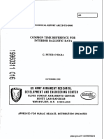 Common Time Reference for Interior Ballistic Data