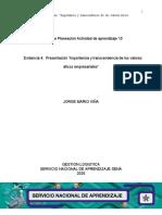 Evidencia 4Presentación Importancia y transcendencia de los valores éticos empresariales