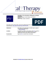 The Effect of Two Intensities of Massage on H-Reflex amplitude