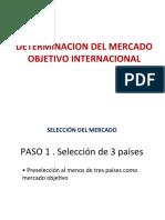 Determinacion Del Mercado Objetivo Internacional
