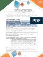 Guia de actividades y rúbrica de evaluación - Unidad 2 -Tarea 3 Clasificación y caracterización de las teorías de la administración unidad 2 (1)