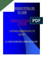 Audit Gestión UCE FCA