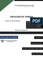 PSICOLOGIA DEL TRABAJO