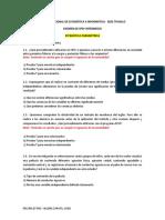 EXÁMEN FINAL ESTADÍSICA PARAMÉTRICA Y NO PARAMÉTRICA