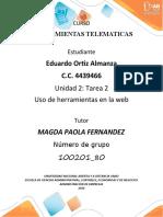 Unidad 2_ Tarea 2 uso de herramientas de colaboracion en web