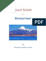 Mount Kailash and Manasarowar