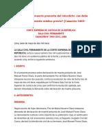 Declaración de muerte presunta del interdicto jurisprudencia II