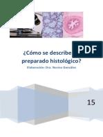 Guía para la descripción de preparados histológicos