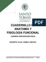 Cuadernillo AnatomÃ_a y FisiologÃ_a Funcional Parte 1