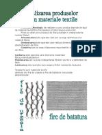 Realizarea Produselor Din Materiale Textile