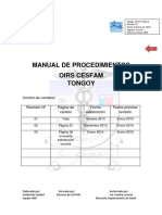 Manual de Procedimientos  OIRS  - Tongoy