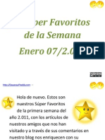 Super Favoritos de La Semana Ene 7/2.011 | DayanayFreddy.com