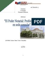 El Poder Notarial. Problematica en sede consular