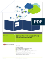 BEYOND THE FOUR WALLS_ ERP AND THE BUSINESS NETWORK. Contents. White Paper