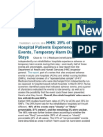 Adverse Events in Rehab Hospitals
