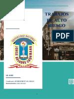 TRABAJOS DE ALTO RIESGO (analisis quimico)