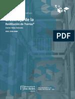 El Acertijo de la Restitución de Tierras - Daniel Vélez.pdf