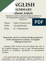 PRESENTASI ENGLISH SUMMARY