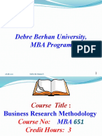 Business Research Chapter I