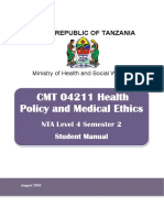 SM_CMT 04211 Health Policy and Medical Ethics