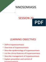 SESSION 20 TRYPANOSOMIASIS