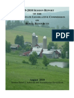 2009-2010 Session Report of the New York State Legislative Commission on Rural Resources