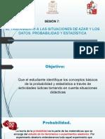 SESIÓN 7- VIRTUAL- EL TRATAMIENTO A LAS SITUACIONES DE AZAR Y LOS DATOS. PROBABILIDAD Y ESTADISTICA
