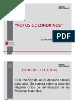 Votos Golondrinos Reciente Procedimiento