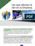 1 Factores que afectan la innovación en la Empresa