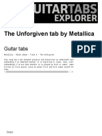 METALLICA_ The Unforgiven Guitar tabs _ Guitar Tabs Explorer