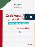 Caderno de Apoio ao estudo - Portugues - 2º ano PLIM