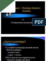Bloque I – Psicología General y Evolutiva