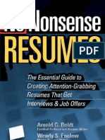 No Nonsense Resumes