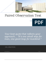 Paired Oservation Test