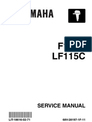 Yamaha Outboard F115 Service Repair Manual | Motor Oil