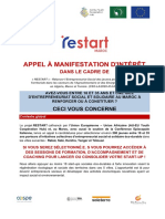 Appel Manif Interet Restart Maroc