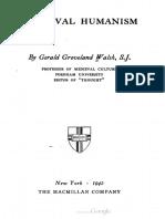 Medieval Humanism - G. Groveland Walsh