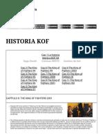 Historia de King of Fighters (III)