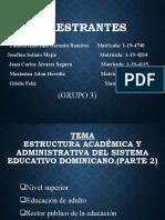 estructura de la educacion dominicana