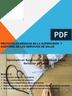 PROTOCOLOS MEDICOS EN LA SUPERVISION  AUDITORIA DE LOS SERVICIOS DE SALUD
