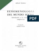 Alfred Schutz - Fenomenología Del Mundo Social