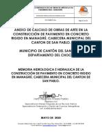 MEMORIA DE HIDRAULICA DE OBRAS DE ARTE EN L VIA PANAMERICANA - MANAGRU