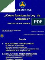 Fedelonjas Ley 820 de 2003