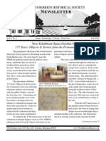 Fall 2009 Newsletter - North Berrien Historical Society