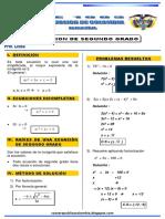 Problemas Resueltos de Ecuaciones de Segundo Grado Ccesa007