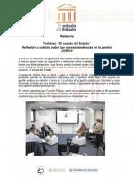 Reflexión y análisis sobre las nuevas tendencias en la gestión pública