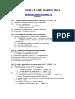 1309 tea Si Analiza Creantelor Si Datoriilor Comerciale (S.C. XYZ S.a.)