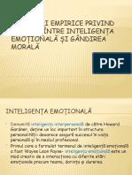 Cercetări empirice privind relația între inteligența emoțională și