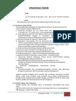 1. Spesifikasi Gerindo Jaya - Alun Alun Rujab