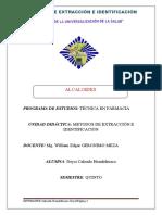 ALCALOIDES SEMANA 9